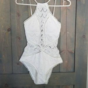 Becca Crochet One Piece Swimsuit